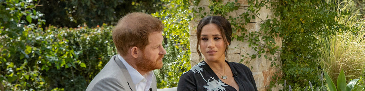 Meghan Markle and Prince Harry during the interview with Oprah Winfrey