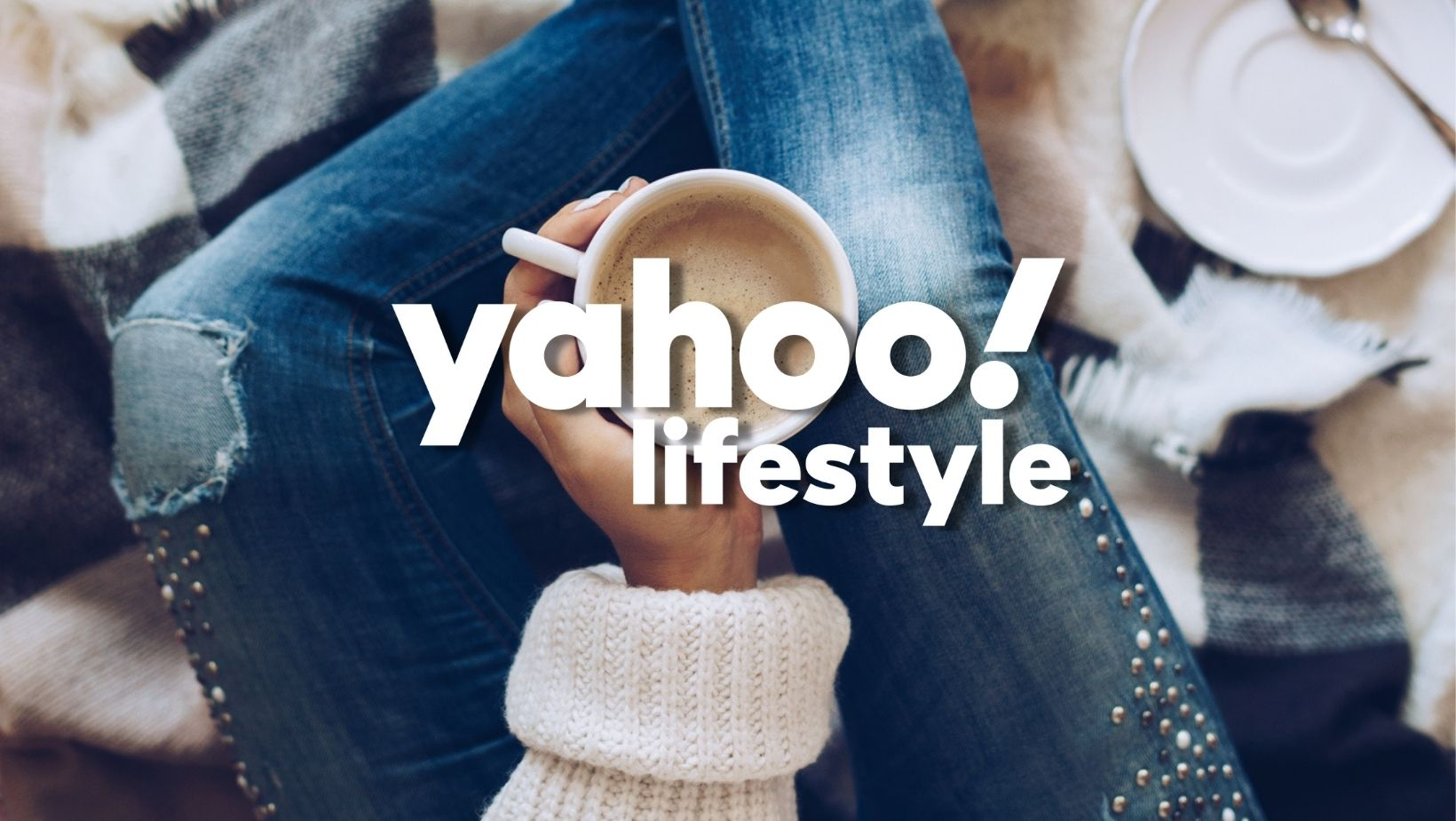 woman holding coffee at home with yahoo lifestyle logo