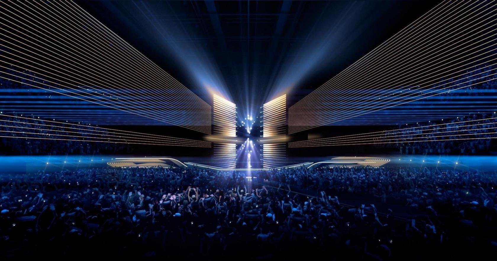 Escenario de Eurovisión en Rotterdam 2021