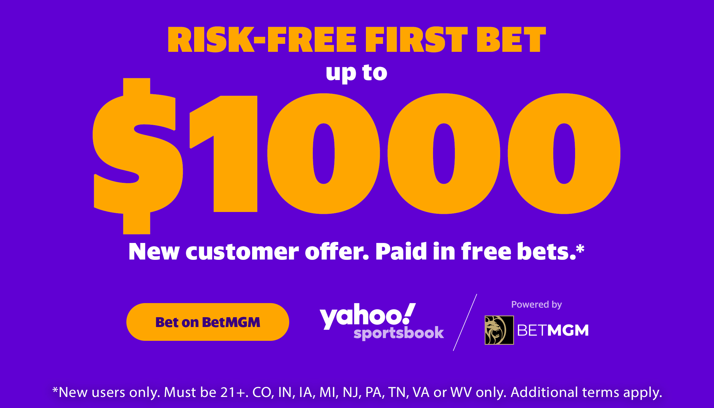 Risk-Free First Bet up to $1,000