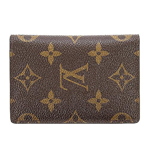 茱麗葉精品全新精品Louis Vuitton LV M60502經典花紋信用卡簡便短夾預購