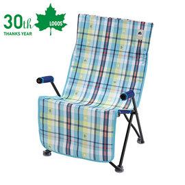 丹大戶外【LOGOS】日本 愛麗絲格紋防水椅套 座椅墊/椅套/可水洗/防塵防髒汙 73173049 藍