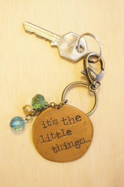 【Wiz微禮】Natural life銅片鑰匙圈-it's the little things...‧貼心禮物包裝服務