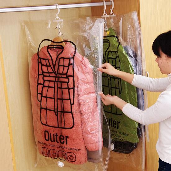 MY COLOR側拉可掛式真空收納袋大壓縮袋整理收納整理袋衣物防塵罩棉被N224