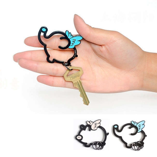 鑰匙圈-可愛飛天豬鑰匙圈/小飛象/鑰匙包/飾品/配件-共2色-FuFu