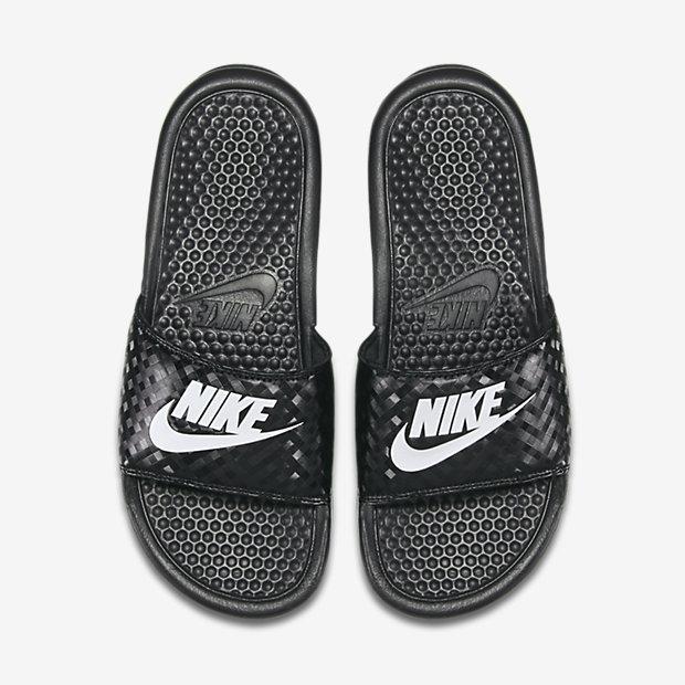 Nike Benassi JDI拖鞋男鞋女鞋鑽石菱格紋黑白運動世界343881-011
