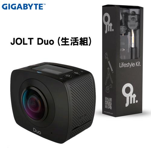 技嘉GIGABYTE JOLT DUO 360度全景雙眼攝影機生活配件組運動攝影機黑炫機馬尼行動通訊