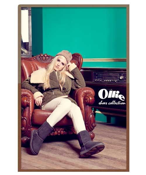 正韓Ollie Basic Mid Boots經典中筒雪靴女靴中筒靴保暖女靴