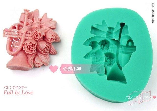 心動小羊^^DIY手工皂工具矽膠模具肥皂香皂模型巧克力模喇叭鬱金香糖模翻糖、香磚、迷你皂模