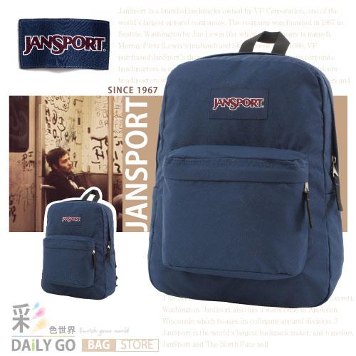 JANSPORT後背包包大容量筆電包韓版帆布包防潑水學生書包彩色世界43501-01F