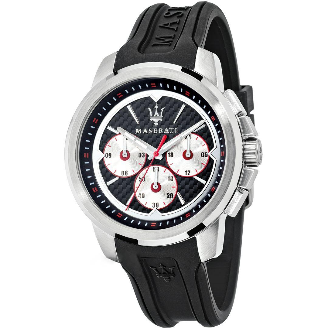 MASERATI WATCH-瑪莎拉蒂手錶-Sfida 3眼石英錶-R8851123001-錶現精品公司-原廠正貨-鏡面保固一年