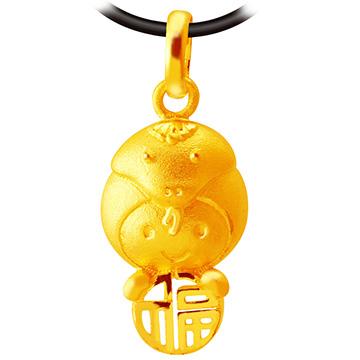 甜蜜約定金飾-福氣十二生肖蛇-黃金墜子生肖金飾招財開運