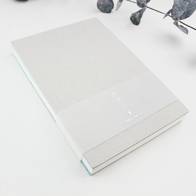 綠的32K原感系鋼筆用藍線線空白筆記