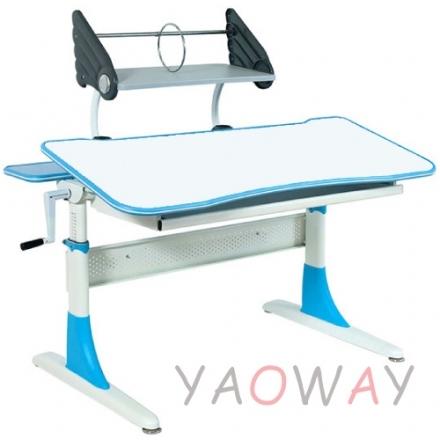 耀偉費蕾雅成長桌藍色系白色美耐板面-100桌寬全能桌升降桌兒童成長桌書桌課桌