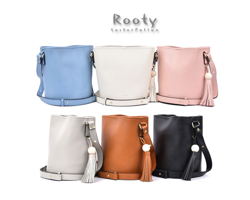 韓國~ ROOTY R322 高質感流蘇圓筒包 水桶包 側背包 肩背包 斜背包【花想容】