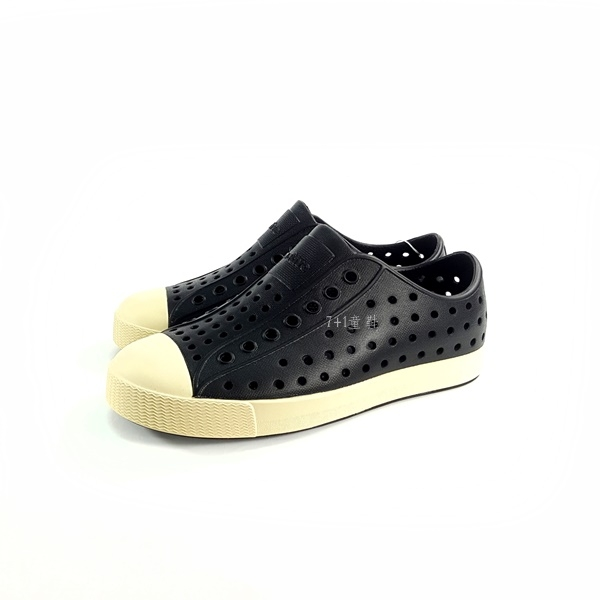 小童 Native JEFFERSON MARBLED 防水洞洞懶人休閒鞋《7 1童鞋》6045 黑色