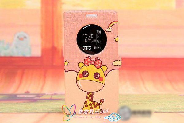 88柑仔店-~韓國彩繪開窗華碩zenfone 2支架手機套華碩2 5.0寸視窗皮套