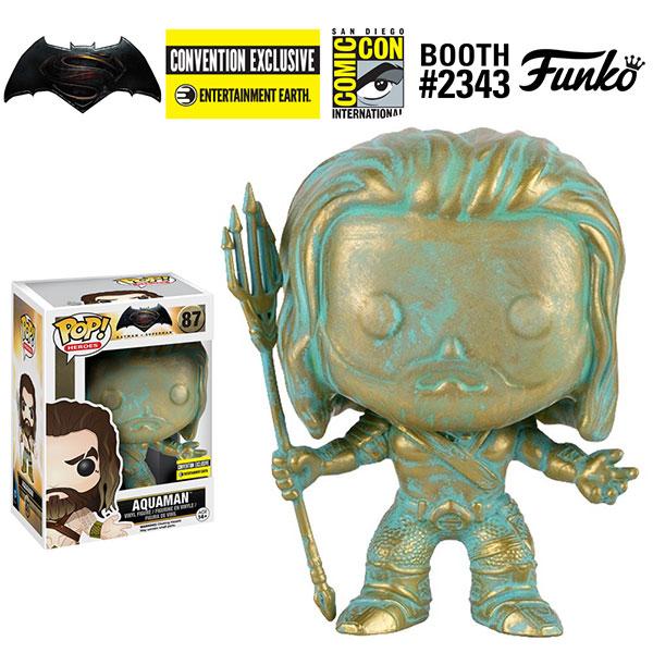 【酷比樂NG品】Funko POP!系列 Q版 正義聯盟 Aquaman Patina 水行俠 青銅像質感 限定版 87(烤漆不均)