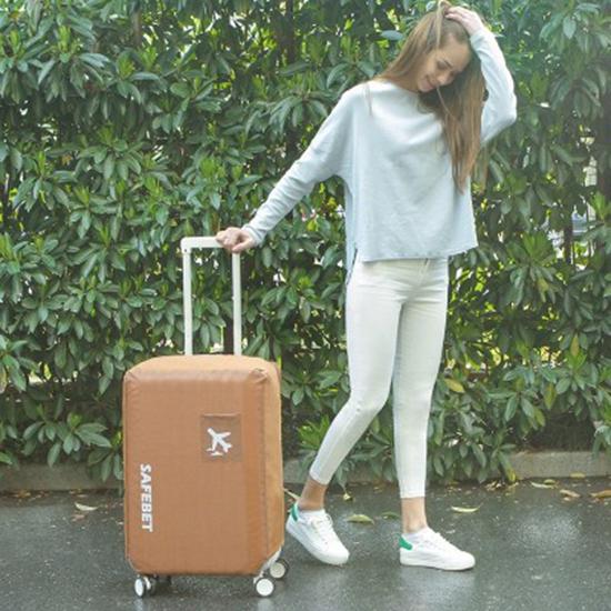 米菈生活館N366防水素面行李套S號彈力保護套加厚耐磨保護罩牛津布行李箱