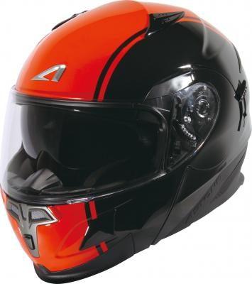 中壢安信法國ASTONE RT1000A AB4黑橘全罩式可掀式安全帽可樂帽內置墨片下巴可掀