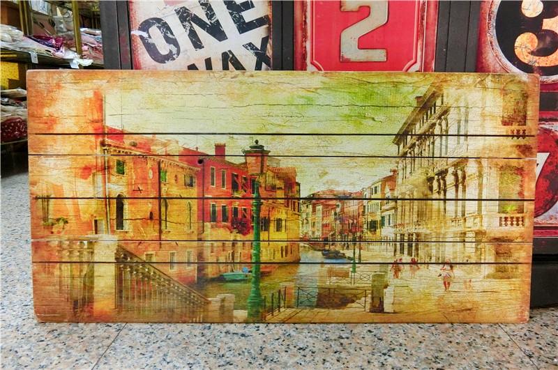 木版畫40X60-A美式鄉村倫敦風情牆壁掛畫壁飾木框畫民宿居家布置絢寓居家