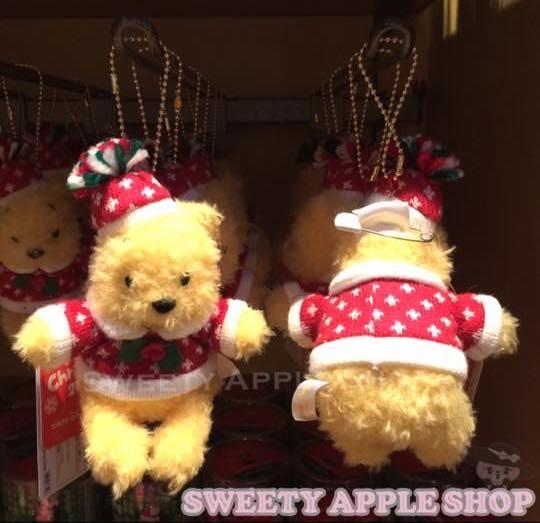 東京迪士尼限定小熊維尼聖誕珠鏈別針玩偶娃娃