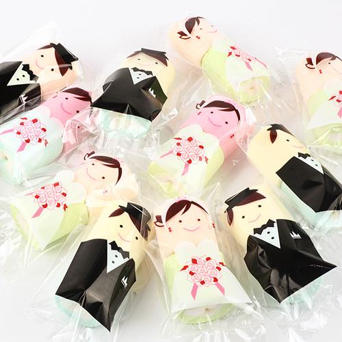 幸福婚禮小物❤新郎新娘甜蜜棉花糖---1組10入❤ 喜糖/迎賓禮/探房禮/送客禮/棉花糖