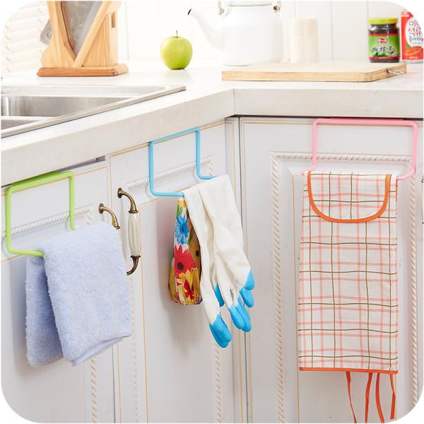 廚房用品 櫥櫃門背式掛架 垃圾袋掛架  【KFS155】收納女王