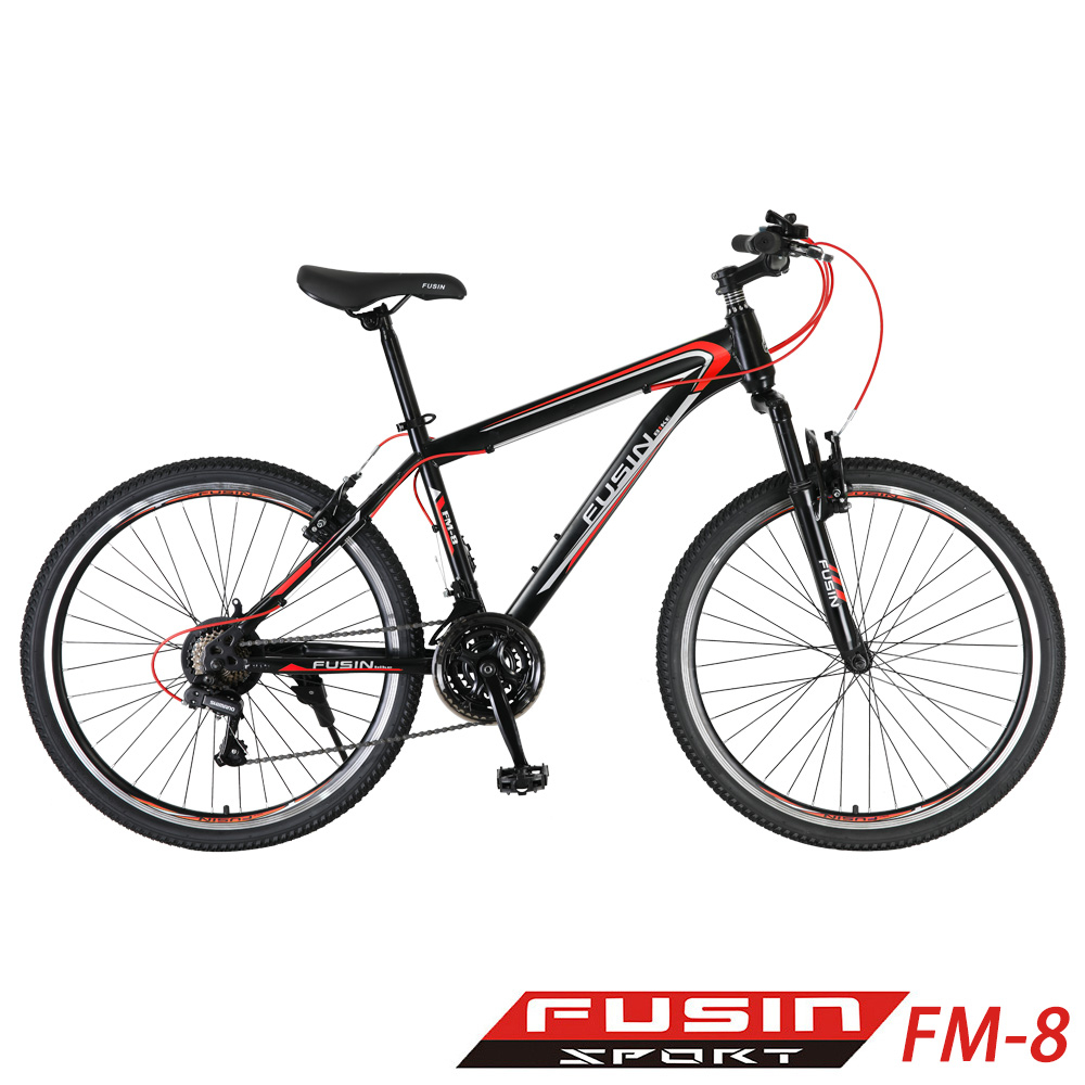 【FUSIN】FM-8 26吋 日本SHIMANO 21速 登山車-服務升級版