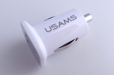 USAMS 雙USB 3.1A mini 車充頭/車充轉USB/faster charging/USB Power supply 適iPhone 3GS/iPhone 4/iPad/iPod/iPad2 等