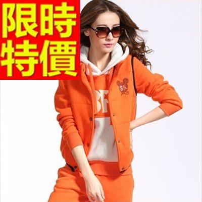 運動服套裝三件式俐落個性-長袖純棉溫暖正韓女休閒服3色63s11時尚巴黎