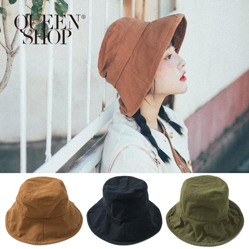 Queen Shop【07020558】秋天色調圓頂漁夫帽 三色售*現+預*