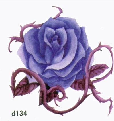 薇嘉雅 玫瑰花 超炫圖案紋身貼紙 d134