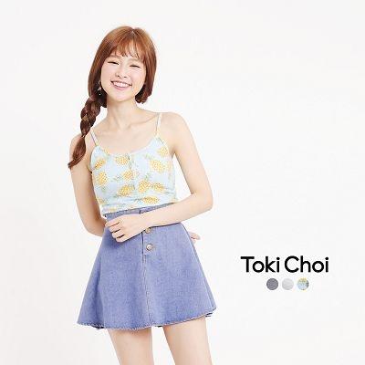 東京著衣-多色短版細肩帶背心-S.M(6018539)