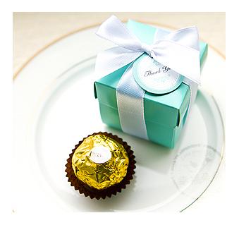 幸福朵朵Tiffany盒裝-義大利金莎巧克力二次進場.婚禮小物.慶生生日.畢業禮物.情人節