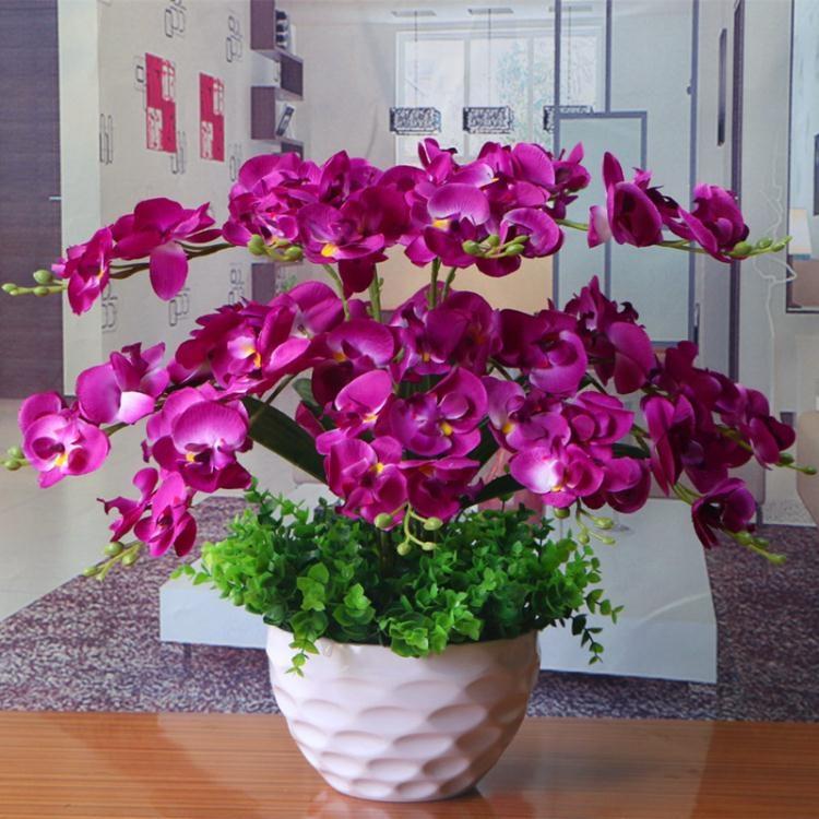 蝴蝶蘭花藝盆栽仿真干花套裝人造花