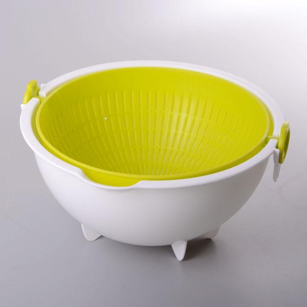 日本製【KOKUBO】圓型旋轉洗菜籃/瀝水籃 / G