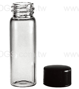 美製螺蓋樣本瓶黑蓋橡膠墊片Vail Sample Screw Thread Rubber Lined Closure