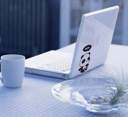 壁貼 小熊貓開關貼 卡通玻璃貼杯筆記本防水貼紙 房間佈置 可移除牆貼紙【A1002】