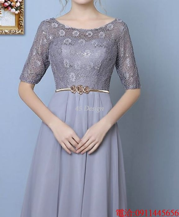 (45 Design)  7天到貨 長禮服伴娘禮服 結婚晚禮服姐妹裙長版禮服 韓式 洋裝 新娘敬酒服 連身裙13