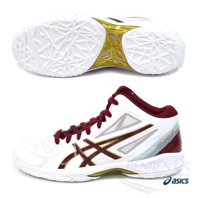 ASICS亞瑟士男藍球鞋紅白GELHOOP V 9穩定性.舒適性進階使用者適用鞋款TBF334-0125胖媛的店