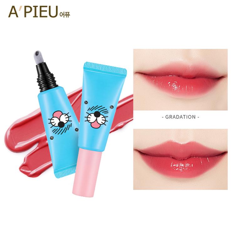 韓國APIEU X BONOBONO清涼海獅保濕氣墊唇蜜唇彩7.3g庫奇小舖