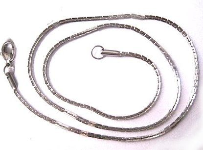 50公分波士頓鍊不退色白鋼鏈1.5mm細