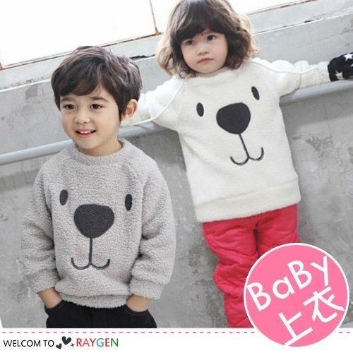 童裝   秋冬新款 可愛男女童 毛絨加絨 小熊上衣 寶寶加厚 可愛舒適 毛毛衣