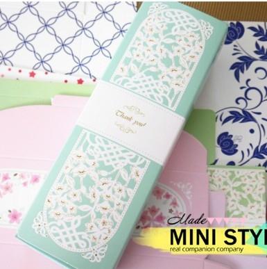[Mini style] 花朵 蕾絲 烘焙盒 包裝盒 餅乾 烘焙 小西點 零食 包裝 蛋糕盒 交換禮物 聖誕節