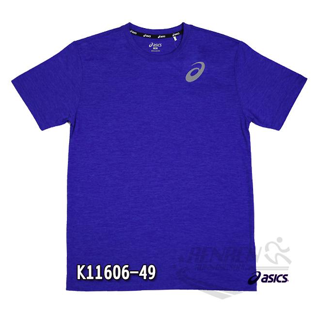 亞瑟士 ASICS 男女短袖T恤 (藍紫) 抗UV透氣T恤 K11606-49【 胖媛的店 】