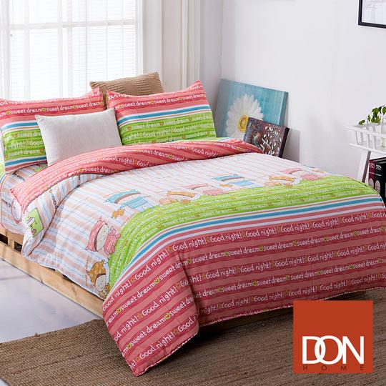 雙人四件式蜜絲絨兩用被床包組-DON奇幻森林