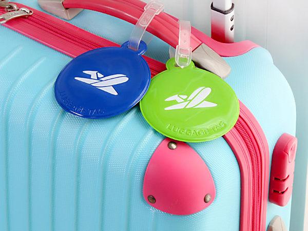 韓國旅行箱行李牌 拉杆箱托運牌箱包吊牌 漆皮造型行李牌 出國旅遊用品【SV6168】BO雜貨