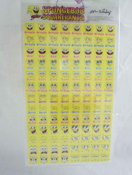 震撼精品百貨SpongeBob SquarePant海棉寶寶~貼紙笑