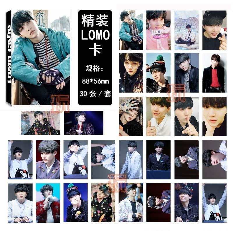 閔玧其 BTS LOMO小卡片 寫真紙卡組(30張)E687-D【玩之內】SUGA 防彈少年團 血汗 V